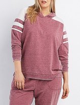 Charlotte Russe Plus Size Mineral Wash Hoodie