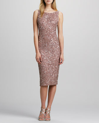 Alice + Olivia Kimber Sequined Midi Dress