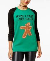 Ultra Flirt Juniors' Funny Gingerbread Graphic Sweater