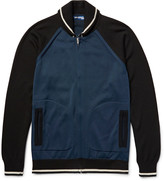 Junya Watanabe - Embroidered Wool-blend Zip-up Cardigan