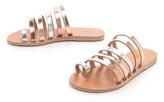 Ancient greek sandals Niki Metallic Strappy Slides