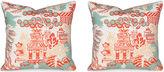 Miles Talbott Collection S/2 Luzon 19.5x19.5 Pillows, Aqua