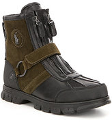 Polo Ralph Lauren Men's Conquest III Leather Front Zip Strapped Boot