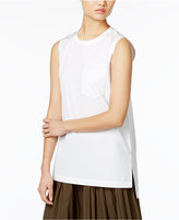 DKNY High-Low Cotton Top
