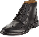 Cole Haan Williams Brogue Wing-Tip Leather Boot, Black