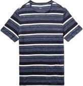 Club Monaco Striped Slub Linen T-Shirt