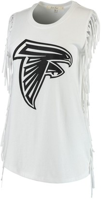 Junk Food Clothing Unbranded Women's White Atlanta Falcons Fringe Tank Top