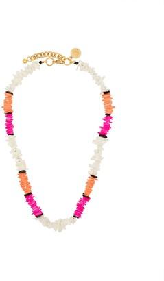 Venessa Arizaga Pink, White And Orange Summer Pearl Necklace