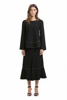 Country Road Profile Stitch Midi Skirt