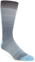 Lorenzo Uomo Men's Millerighe Stripe Socks