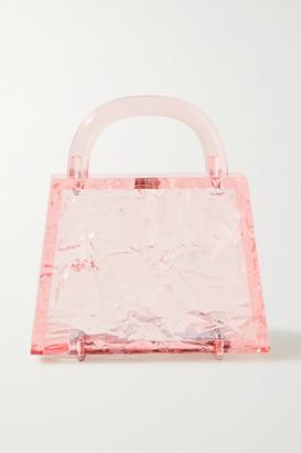 L'Afshar Eva Textured-acrylic Tote - Blush