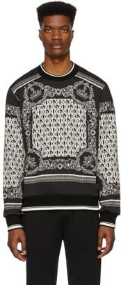 Dolce & Gabbana Black and White Bandana Sweatshirt