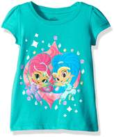 Nickelodeon Little Girls' Toddler Shimmer and Shine Puff Short Sleeve T-Shirt
