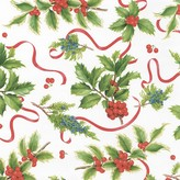 Caspari Holiday Trimmings Wrapping Paper