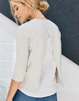 Boden Nora Woven Mix Sweater