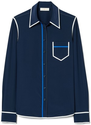 Tory Burch Contrast Binding Shirt