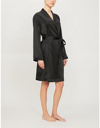 La Perla Notch-lapel silk dressing gown