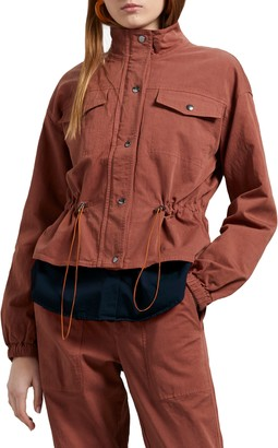 Michael Stars Ingrid Salton Twill Windbreaker