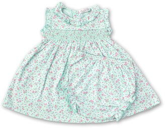 Kissy Kissy Dusty Rose Smocked Sundress