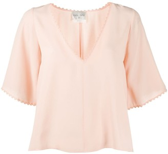 Forte Forte embroidered-trim blouse