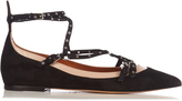 Valentino Love Latch suede and leather flats