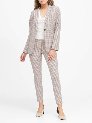 Banana Republic Long & Lean-Fit Plaid Blazer