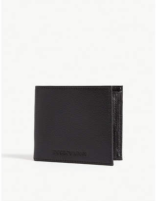 Emporio Armani Embossed logo leather wallet