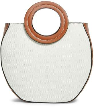 STAUD Leather and Canvas Frida Tote Bag