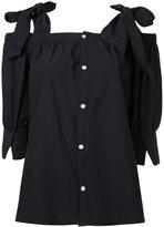 CITYSHOP shoulder bow blouse - women - Cotton - One Size