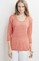 J. Jill Lightweight Striped Easy Pullover