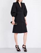 Alexander McQueen Puff-sleeve wool and silk-blend coat