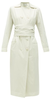 Lemaire Belted Cotton-poplin Trench Dress - Cream