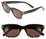 Tom Ford Men's 'Snowdon' 50Mm Sunglasses - Dark Havana
