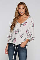 Love Stitch Layered Sleeve Top