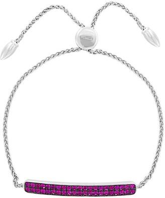 Effy Sterling Silver & Ruby Bolo Bracelet