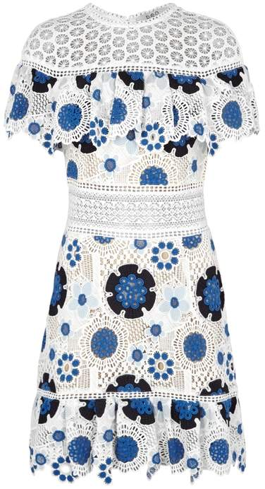 Sea Figgy Floral-embroidered Lace Dress