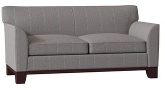 "Breese Square Arm Sofa Duralee Furniture Body Fabric: Gray, Size: 72"" W"