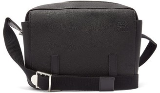 Loewe Military Small Grained-leather Messenger Bag - Mens - Black