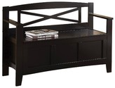 Office Star Entryway Bench with X Back Black