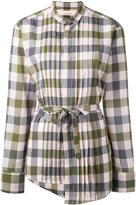 A.F.Vandevorst asymmetric checked shirt
