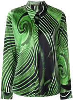 Roberto Cavalli printed concealed front shirt