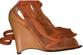 Fendi Orange Leather Sandals