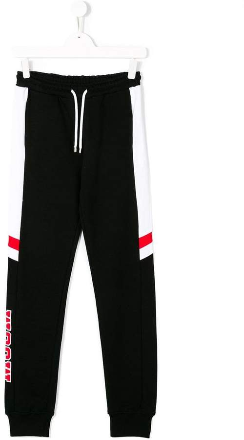MSGM Kids contrast panel track pants
