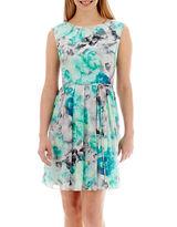 Studio 1 Sleeveless Studded-Neck Fit-and-Flare Dress - Petite