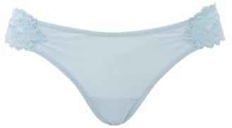 La Perla Tres Souple Lace Thong - Blue