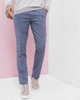 Crosshatch Linen-blend Trousers