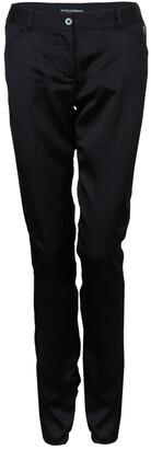Dolce & Gabbana Black Satin Trousers S