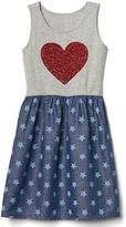 Gap Sequin heart tank dress