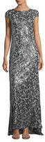 Calvin Klein Sequined Cowl Back Gown