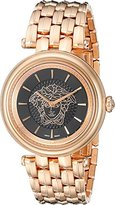 Versace Women's VQE050015 KHAI Analog Display Swiss Quartz Gold Watch